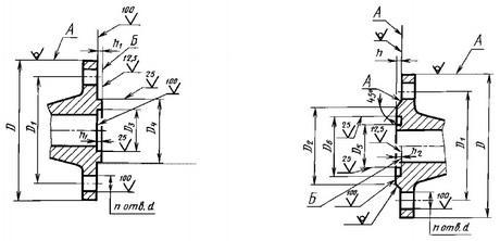 исполнение 4 фланца с шипом исполнение 5 фланца с пазом