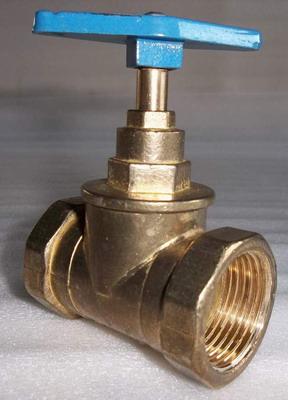 клапан запорный латунный проходной муфтовый