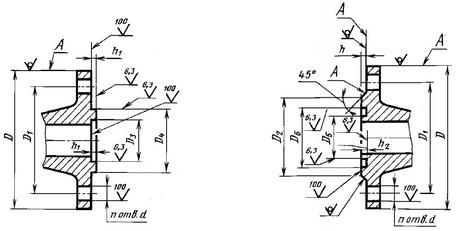 исполнение 8 (шип) исполнение 9 (паз)